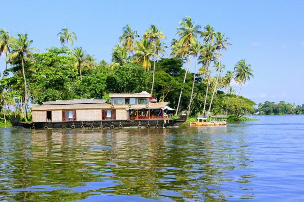 Travelling in Kerala Backwaters, India