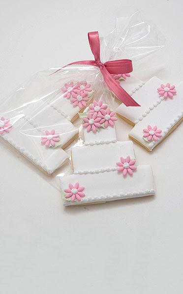 Pink Flowers Wedding Cake Butter Cookies Scrumptions
