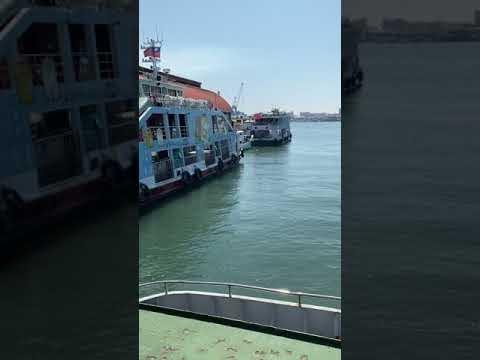高雄鼓山-鼓山輪渡站 鼓山旗津航線-搭渡輪到旗津 機車也能上船-gu shan lun du zhan