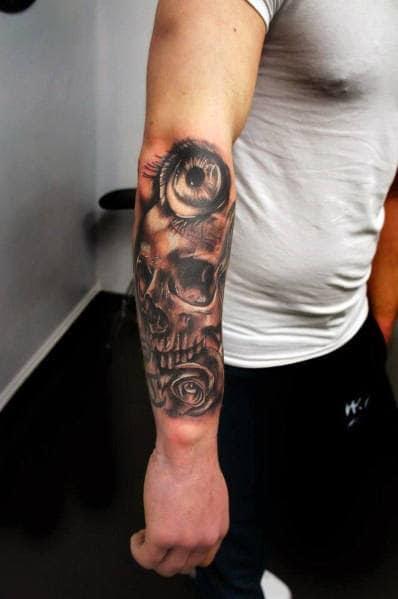Idéias de tatuagem de homens de flor rosa