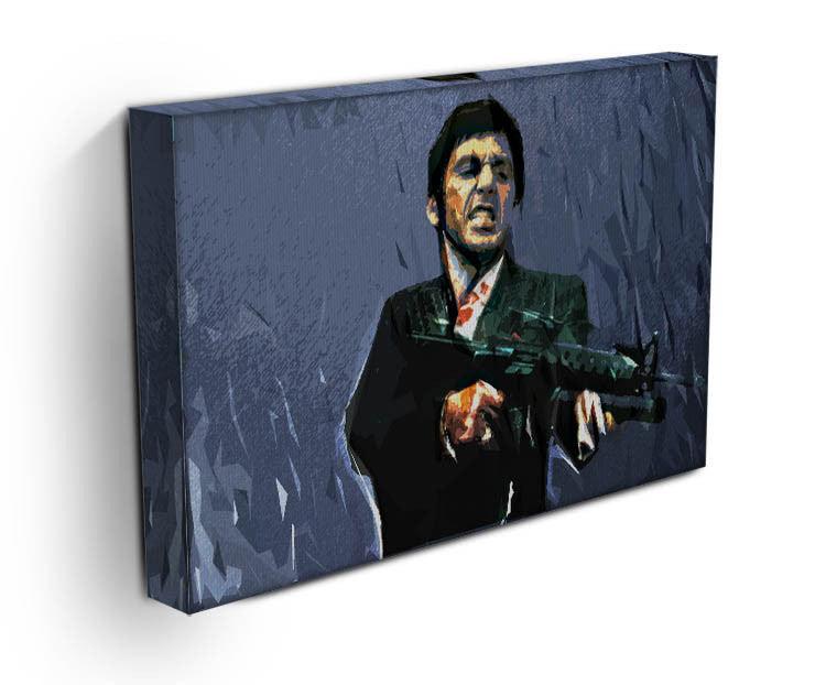 Scarface Machine Gun Canvas Print Poster Canvas Art Rocks