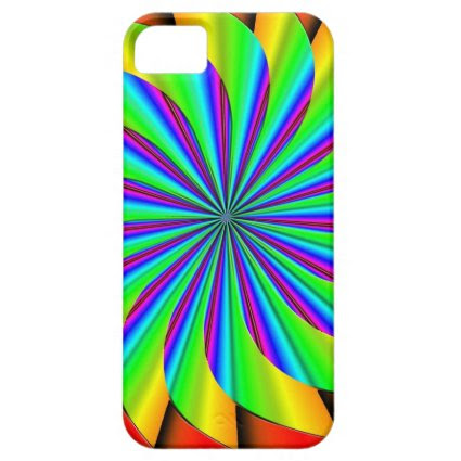 Bright Colorful Pinwheel Fractal iPhone 5 Cover