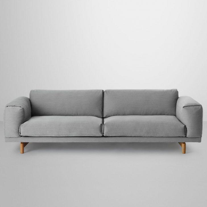 3er Sofa Luxus Englisches Kleines Stoff Grau Mit ...