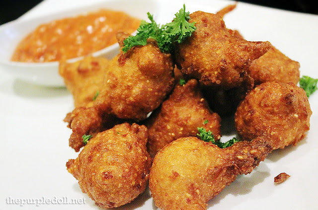 Chef Sharwin Tee's Hush Puppies with Peach Ketchup