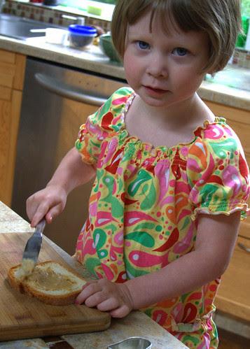 I make my own sandwich