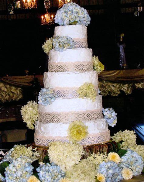 Vintage Wedding Cake White Rustic Buttercream Vintage Lace