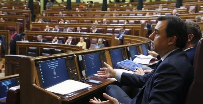 Maíllo, en el Congreso este martes. EFE/Kiko Huesca