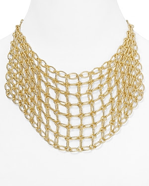Catherine Stein Chain Mesh Bib Necklace