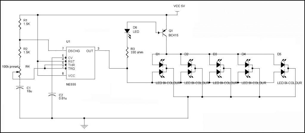 LED Flasher Circuit Diagram