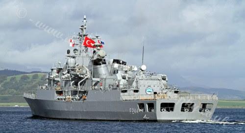 Τουρκική φρεγάτα στα νερά μας