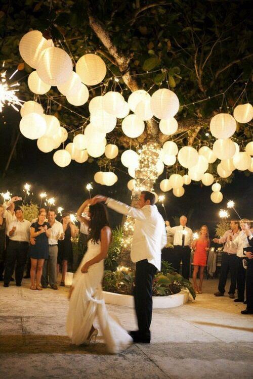 Lighting ideas for backyard wedding