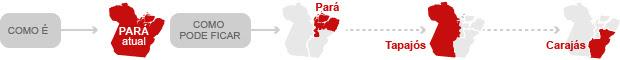 Divisão do Pará (Foto: Editoria de Arye/G1)