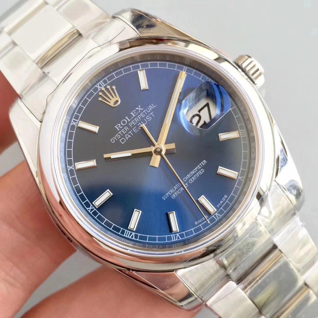 Replica Rolex Datejust 904L Blue Watch