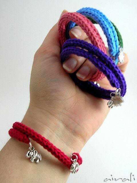 bracciali tricotin con elefantino - tricotin elephant bracelet by airali_gray, via Flickr