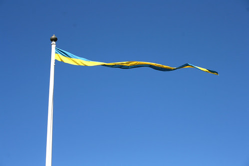 Thin yellow and blue flag