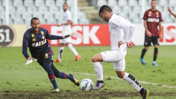 Gabriel - Santos x Atlético-PR (Foto: FRED CASAGRANDE - Agência Estado)