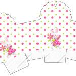 Caixa Cupcake Páscoa para Meninas: