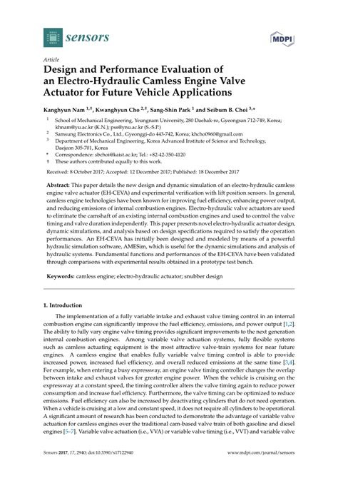 (PDF) Design and Performance Evaluation of an Electro