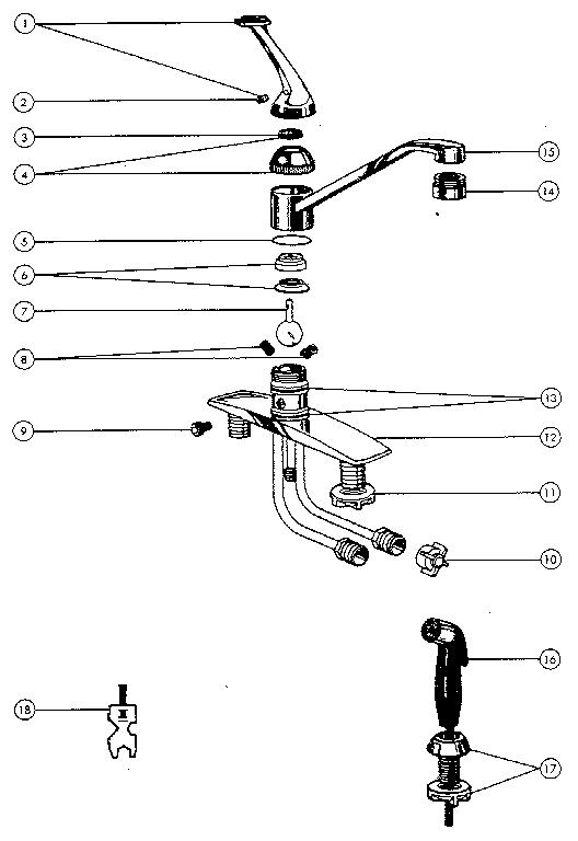 Kitchen Faucet Parts Diagram