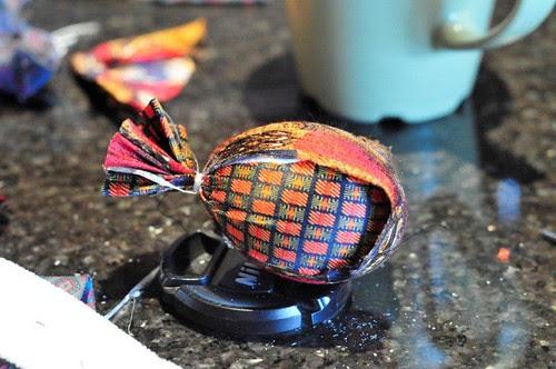 silk tie dye Easter eggs
