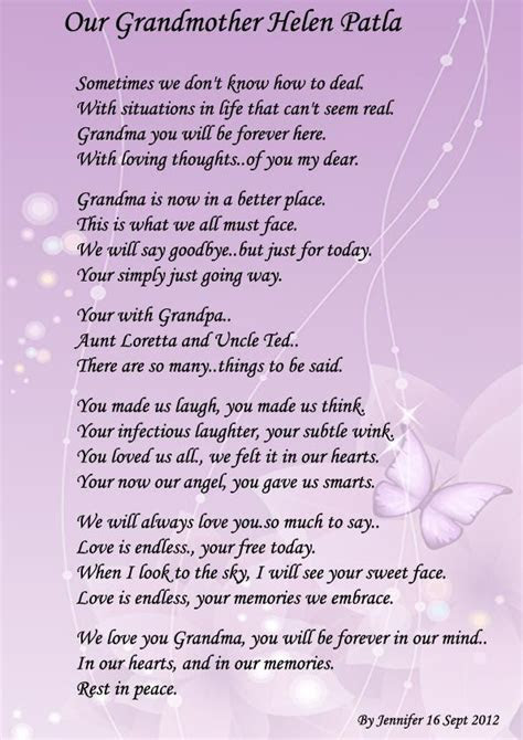 grandma poems  funerals ll