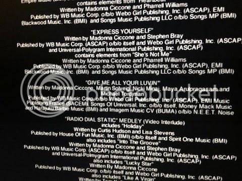 """madonna """"dimentica"""" di citare lady gaga nei titoli di coda del tour"""
