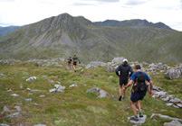 South Glen Shiel ridge, looking towards Sgurr na Sgine
