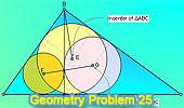 Problema 25: Triángulo rectangulo, Altura, Recta que une los Incentros.