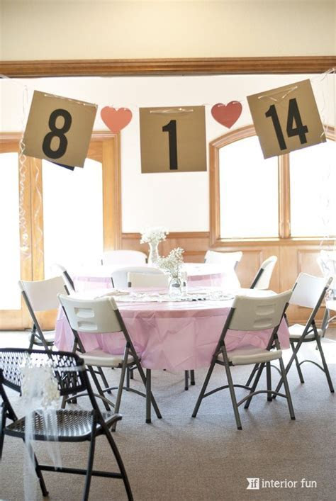 Easy and super cute banner for a bridal shower made from