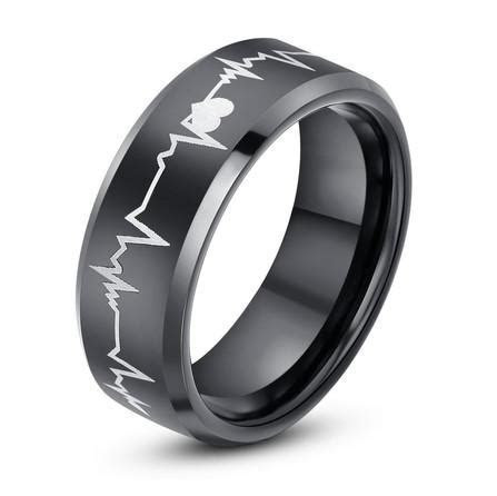 New Arrival 8mm Black Tungsten Carbide Ring With Laser