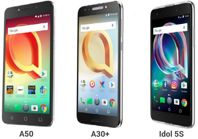 Alcatel A50, A30 Plus, Idol 5S