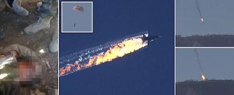 Russian warplane on Syrian border shot down by Turkey..