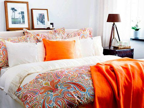 There is something about teal and orange or red.  Such a great vibrant combo full of energy.