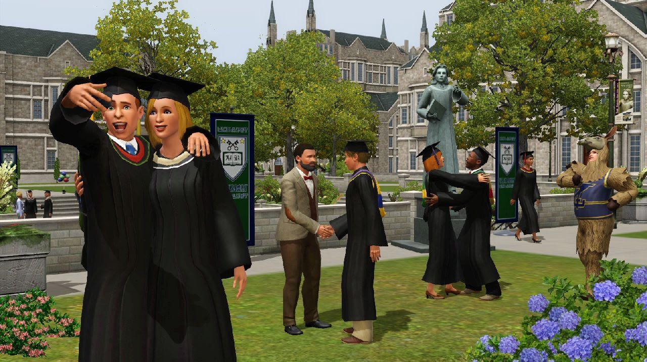 Educação é coisa séria entre os Sims, também! (Foto: Divulgação)