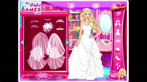 Wedding Barbie Dress Up Games   YouTube