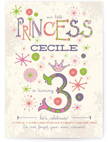 Our Little Princess Kids Party Invitations