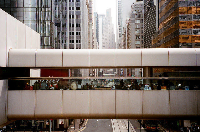 Footbridge in Hong Kong