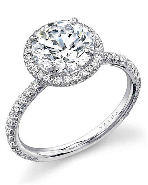 Platinum Engagement Rings   Martha Stewart Weddings