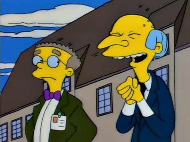 Waylon Smithers é assistente pessoal do Sr. Burns em 'Os Simpsons' (Foto: Divulgação)