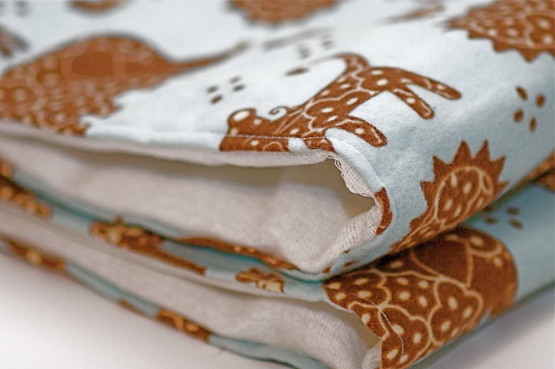 Baby Boy Burp Cloth Set of 2 Blue and Brown Animal Print Baby Boy Burp Cloth Great for a Baby Boy EtsyKids Team