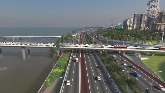 A computer-generated image of the proposed Coast Road Project