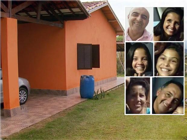 Sargento matou cinco pessoas da mesma filha em chácara de Extrema e se matou em seguida (Foto: Reprodução EPTV)