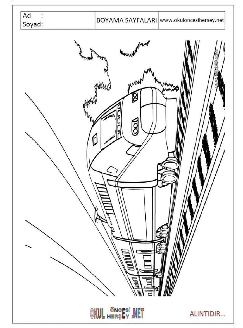 Tren Boyama Sayfaları