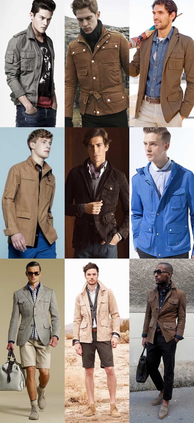 Men's Safari Jacket Lookbook