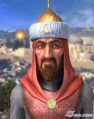 Gambaran wajah Salahuddin Al-Ayyubi