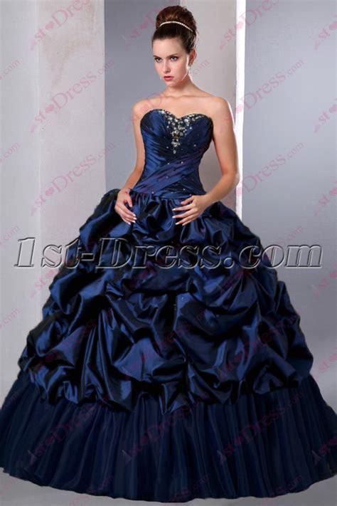 Beautiful Navy Blue Puffy Sweet 15 Gown 2016:1st dress.com