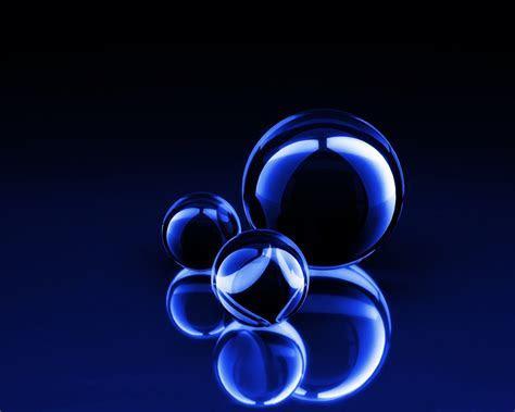 Blaue 3d Kugeln Hintergrundbild   1280x1024   Kostenlose