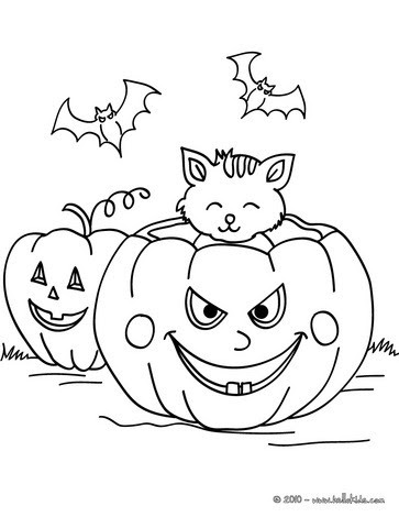 Halloween Jack Olantern Coloring Pages For Kids Bat Printable Free Coloring And Drawing