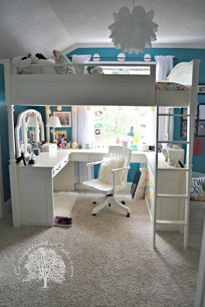 Teen Girl's Bedroom Makeover from Cottage in the Oaks