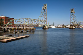 remnants of the old bridge